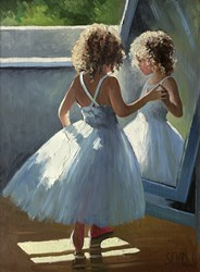 Pretty as a Picture by Sherree Valentine Daines - Original Painting on Board sized 12x16 inches. Available from Whitewall Galleries